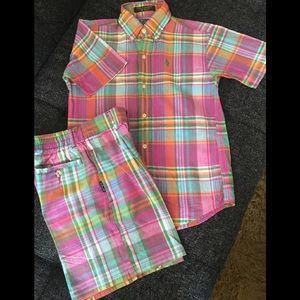 Boy's Shirt and Shorts Set
